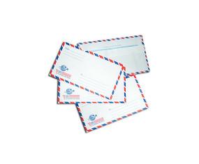 Bao thư bưu điện sọc (có keo)