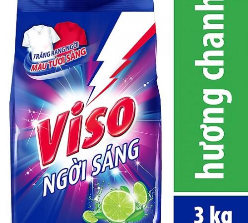 Bột giặt VISO trắng sáng hương chanh 3kg